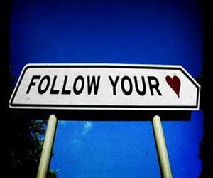 heart and follow image