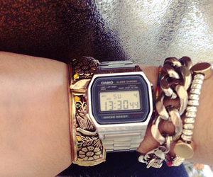 casio, outfit, and bracalet image