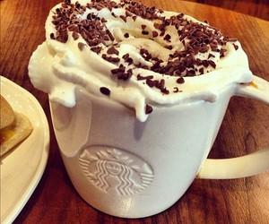starbucks, chocolate, and coffee image