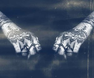 rihanna, tattoo, and hands image