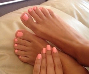 coral, soft, and toes image