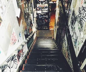 stairs, grunge, and bands image