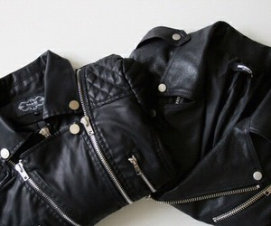 fashion, jacket, and black image