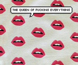 Queen, lips, and red image