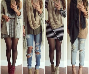 fashion, shoes, and scarf image