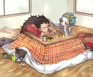 art, couple, and gajeel redfox image