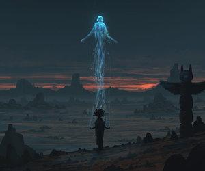 art, fantasy, and spirit image