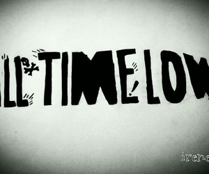 all time low, drawing, and all time low logo image