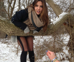danielle campbell, snow, and davina claire image