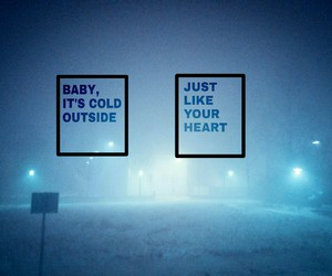 cold, love, and baby image