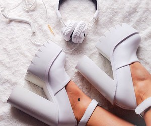 music, shoes, and white image