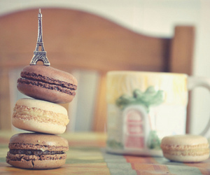 paris, macaroons, and food image