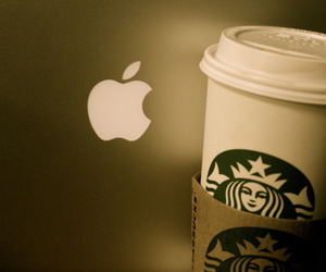 apple, coffee, and fancy image