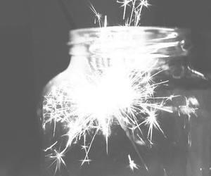 light, fireworks, and jar image
