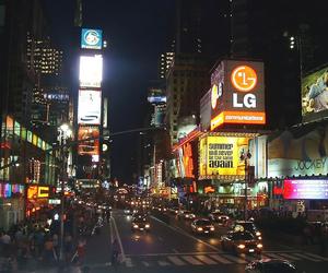 broadway, night, and street image