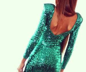 dress, green, and glitter image