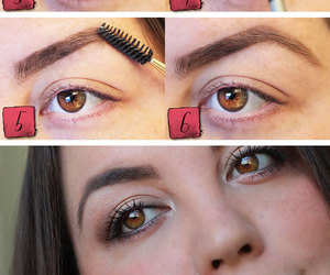beauty, eyebrows, and make-up image