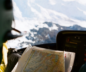 map, travel, and mountains image