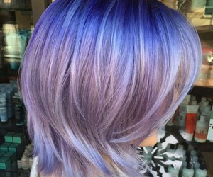blue hair, grunge, and hairstyle image