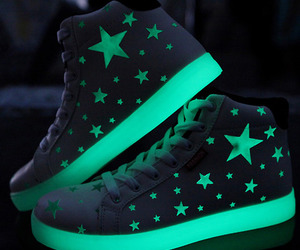 shoes, stars, and green image