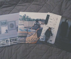 bed, cds, and music image