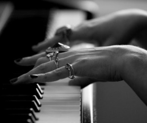 hands, music, and nails image