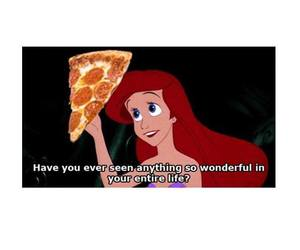 pizza, ariel, and funny image