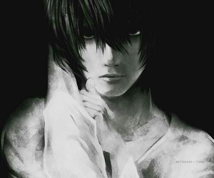 death note, L, and anime image