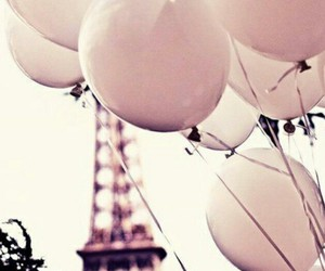 balloons, paris, and eiffel tower image