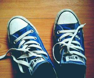 blue, converse, and love image