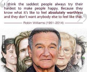 robin williams, sad, and quotes image
