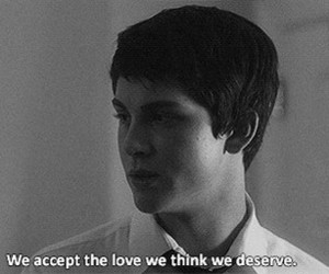 accept, deserve, and stuck in love image