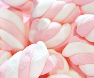 food, marshmallows, and pink image