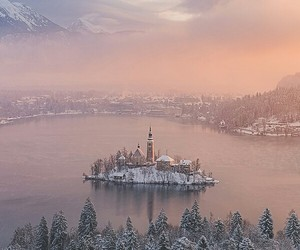 lake, slovenia, and bled image