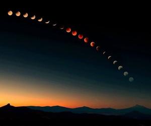 moon, sky, and night image