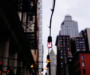 light, city, and street image