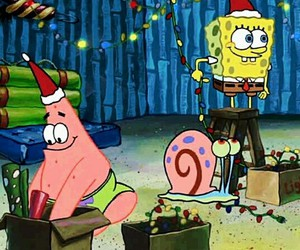christmas, patrick, and spongebob image