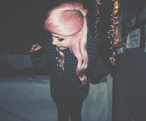 pastel, pink hair, and smile image