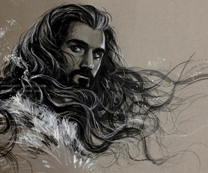 aragorn, middle earth, and art image