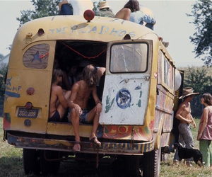 hippie and bus image