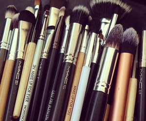 Brushes, mac, and makeup image