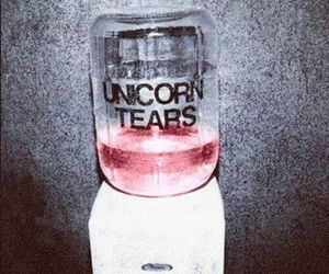 unicorn, tears, and pink image
