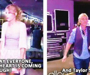 ellen, Taylor Swift, and funny image