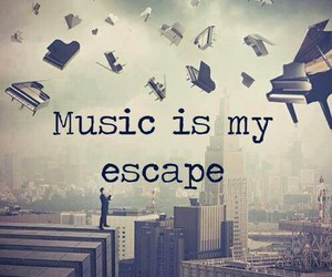escape and music image