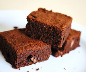 brownie, cream, and delicious image