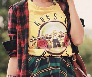 outfit, fashion, and guns and roses image