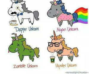 unicorn, ninja, and zombie image
