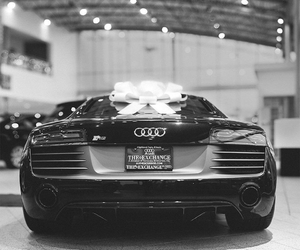 audi, black & white, and car image