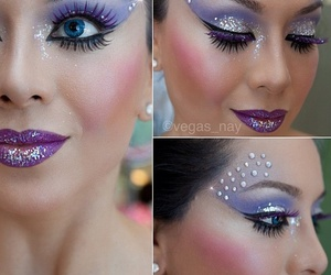 makeup, glitter, and make up image
