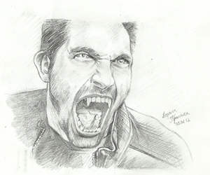 drawing, teen wolf, and derek hale image